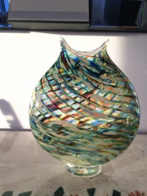 Jim Wilbat Glass Vase